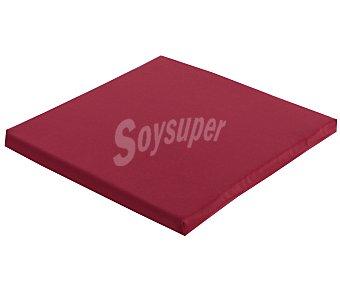 COMATEX Cojín para silla modelo Grey Line de color rojo burdeos, de 40x40x3 centímetros, lavable y de gran resistencia al exterior 1 unidad