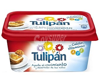 Tulipán Margarina Vegetal con Calcio, Leche y Vitaminas a,d,e Tarrina 1 Kilo
