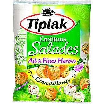 TIPIAK picatostes para ensaladas al ajo y finas hierbas bolsa 50 g
