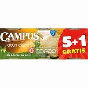 Campos Atún claro en aceite de oliva Pack 6x80 g
