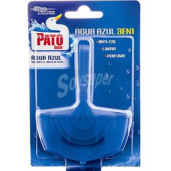 Pato Desinfectante wc Agua Azul 3 en 1 aparato + recambio