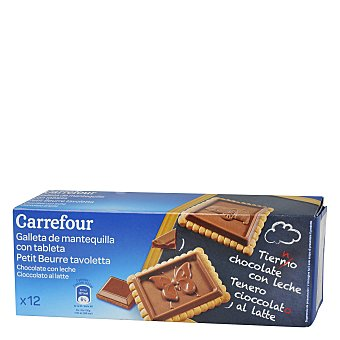 Carrefour Galleta con tableta de chocolate con leche 150 g