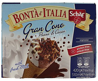 Schär Cono nata/chocolate Pack 6 x 85 ml