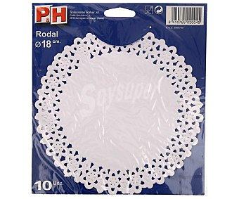 P & H Rodales de 18 centímetros 10 unidades