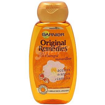 Original Remedies Garnier Champú con aceites de argán y camelia para cabello seco y apagado Frasco 250 ml
