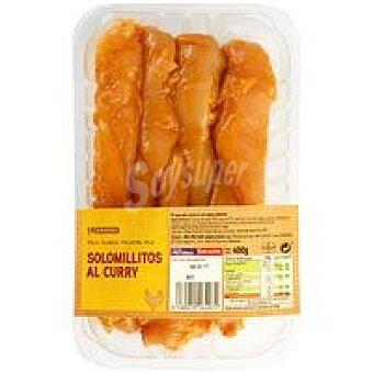 Eroski Faccile Solomillitos de pollo al curry Bandeja 400 g