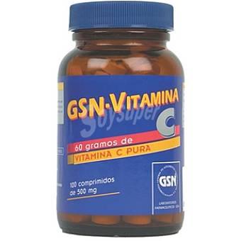 GSN Vitamina C en comprimidos 500 mg Envase 100 unidades