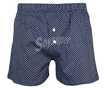 Calzoncillo boxer de algodón con botones 2U, color azul, talla L. L