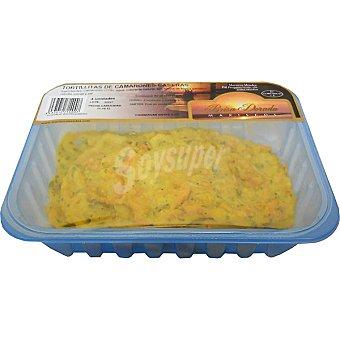 Brisa dorada Tortillitas de camarones bandeja 4