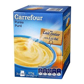 Carrefour Puré de patatas con leche Caja 375 g