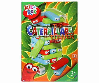 Rik&Rok Auchan Juego de mesa de habilidad Torre de bloques, de 1 a 4 jugadores 1 unidad