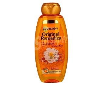 Original Remedies Garnier Champú con aceites de argán y camelia para cabello seco y apagado Frasco 400 ml