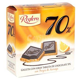 Reglero Galleta con gran tableta de chocolate 70% y naranja caja 140 gr Caja 140 gr