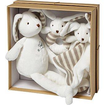 Unit JGS001 Set de 3 piezas con conejos Dou Dou sonajero y muñeco
