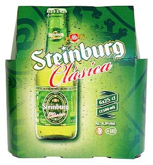 Steinburg Cerveza rubia Botellin pack 6 x 250 cc - 1500 cc
