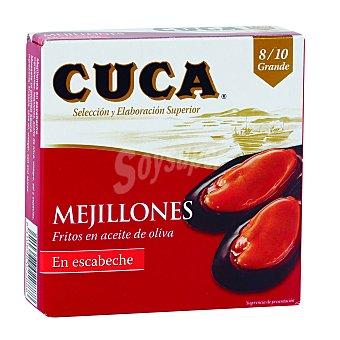 Cuca Mejillones fritos en aceite de oliva , en escabeche, 8/10 piezas 69 g