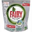 Lavavajillas en cápsulas limón Bolsa 32 dosis Fairy Platinum