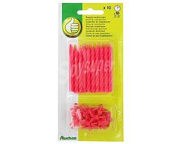 PRODUCTO ECONÓMICO ALCAMPO Velas de cumpleaños de color rosa 10 Unidades