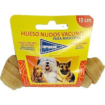 Hipercor Hueso nudo de vacuno 13 cm para perro Paquete 1 unidad