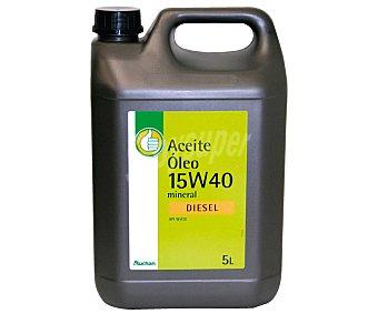 PRODUCTO ECONÓMICO ALCAMPO Aceite mineral para vehículos diésel 5 Litros. SAE: 15W40 5 litros