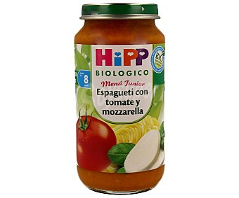 HiPP Biológico Tarrito spaghetti / tomate / mozarela 250 g