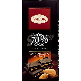 Valor Chocolate negro con almendras 70% cacao Tableta 150 g