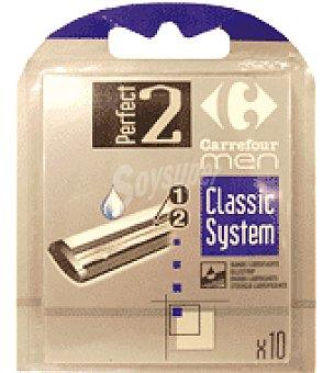 Carrefour Recambio universal hojas de afeitar Bolsa de 10 un