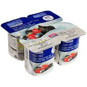 Eroski Yogur con frutas del bosque Pack 4x125 g