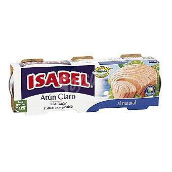 Isabel Atún claro al natural Pack 3 latas x 56 g (peso neto escurrido)