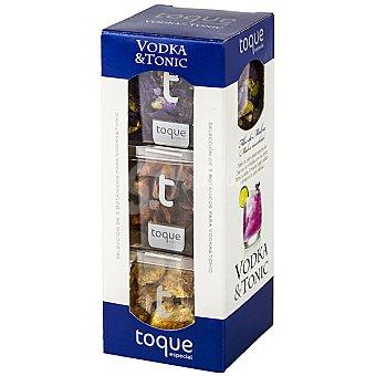 Toque Especias para cócteles selección de 3 botánicos para vodka&tonic Estuche 29 g