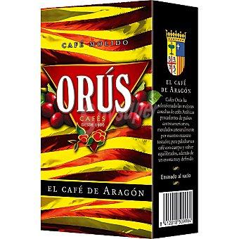 Orus el café de Aragón molido mezcla 75-25 Paquete 250 g