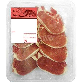 Chuletas de lomo de cerdo bandeja familiar peso aproximado 900 g