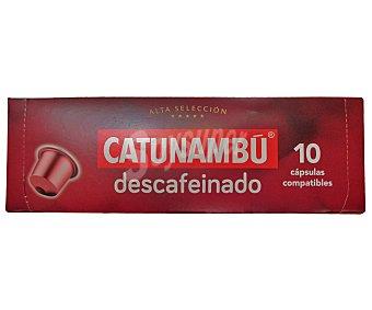 Catunambu Café descafeinado en monodosis 10 unidades