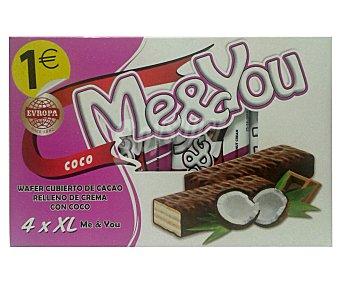 Me&You Chocolatinas de cococ 4 uds. 38 g