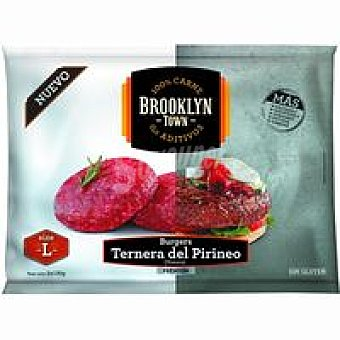 Brooklyn town Burger premium ternera del Pirineo L bolsa 260 g