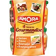 Surtido de salsas para fondue Pack 4 tarro 84,5 ml Amora