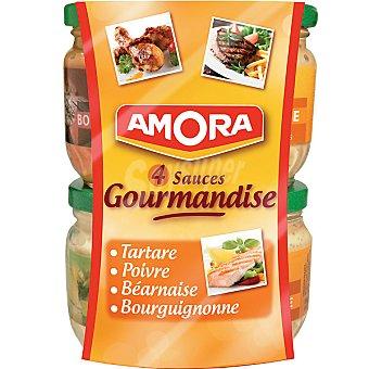 Amora Surtido de salsas para fondue Pack 4 tarro 84,5 ml