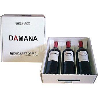 Damana Vino tinto crianza D.O. Ribera del Duero Estuche 3 botella 75 cl