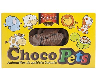Asinez Galletas de animalitos con cobertura de cacao Caja 200 g