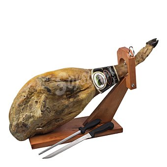 Carrefour Soporte jamón+cuchillo+chaira 1 ud