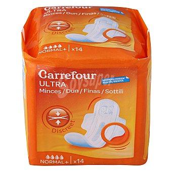 Carrefour Compresa ultra-fina normal con alas 14 ud