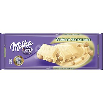 Milka Chocolate blanco con avellanas 300 g
