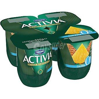 ACTIVIA DE DANONE Yogur Bifidus Desnatado con Piña 4 unidades de 125 g