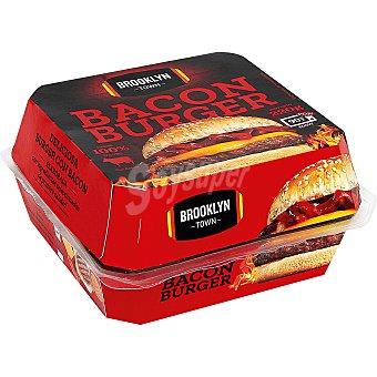 Brooklyn Town Hamburguesa (100% carne de vacuno) con bacon, lista para calentar y comer 220 g