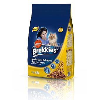 BREKKIES EXCEL Alimento para gatos interior  bolsa 4 kg