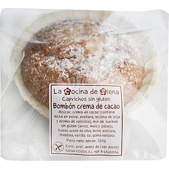 LA COCINA DE SIENA Magdalena con avellana molida y corazón de crema de cacao sin gluten Envase 120 g