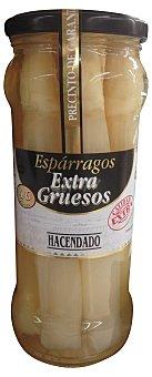 Hacendado Esparrago blanco extra grueso 4/6 piezasconserva Tarro 540 g escurrido