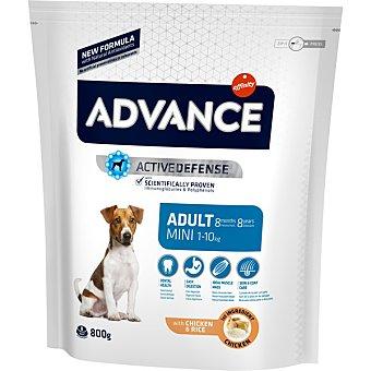 ADVANCE Pienso para perros mini adultos Advance Mini Pollo y Arroz 800 gr