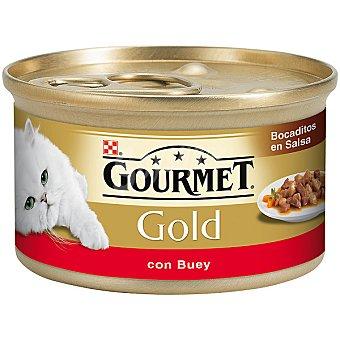 Purina Gourmet Bocaditos en salsa con buey para gatos Gold Lata 85 g