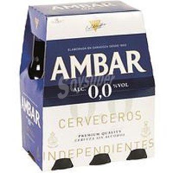 Ambar Cerveza sin alcohol Pack 6x25 cl
